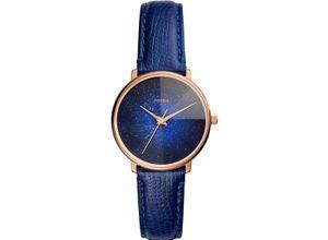 FOSSIL Damenuhr Fossil Damen-Uhren Quarz, blau, EAN: 4013496834673