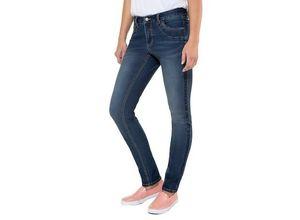 Gina Laura Damen Jeans Julia, Rips-Streifen, schmale 5-Pocket-Form, blau, Baumwolle/Polyester/Elasthan