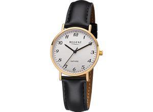 Regent Damenuhr Regent Damen-Uhren Analog Quarz, schwarz, EAN: 4050597189042
