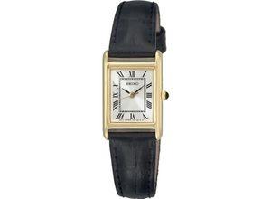 Seiko Damenuhr Seiko Damen-Uhren Eckig Analog Quarz, schwarz, EAN: 4954628114082