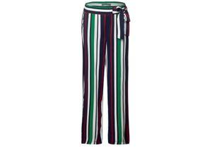 Street One Wide Leg Hose mit Streifen dunkelblau, Gr. 36/28 - Damen Hose