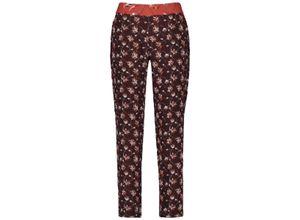 Taifun Luftige Hose Lounge Pants High deep burgundy gemustert, Gr. 36 - Damen Hose