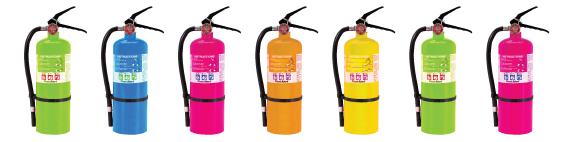 color powder extinguisher