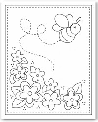 bee kind Colouring Pages