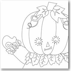 Printable Halloween Crafts For Kids: Hinged Pumpkin Man