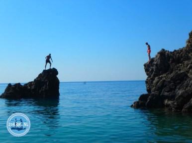 Agio Farango gorge walk hike snorkelling