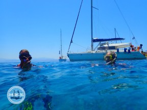 Holiday on Crete greece sail and swimming in greece