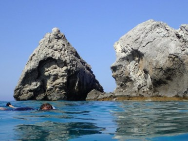 Snorkling in the south of crete