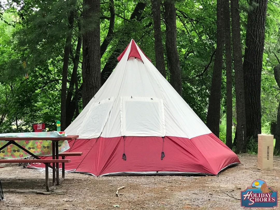 Holiday Shores Tee Pee Tent