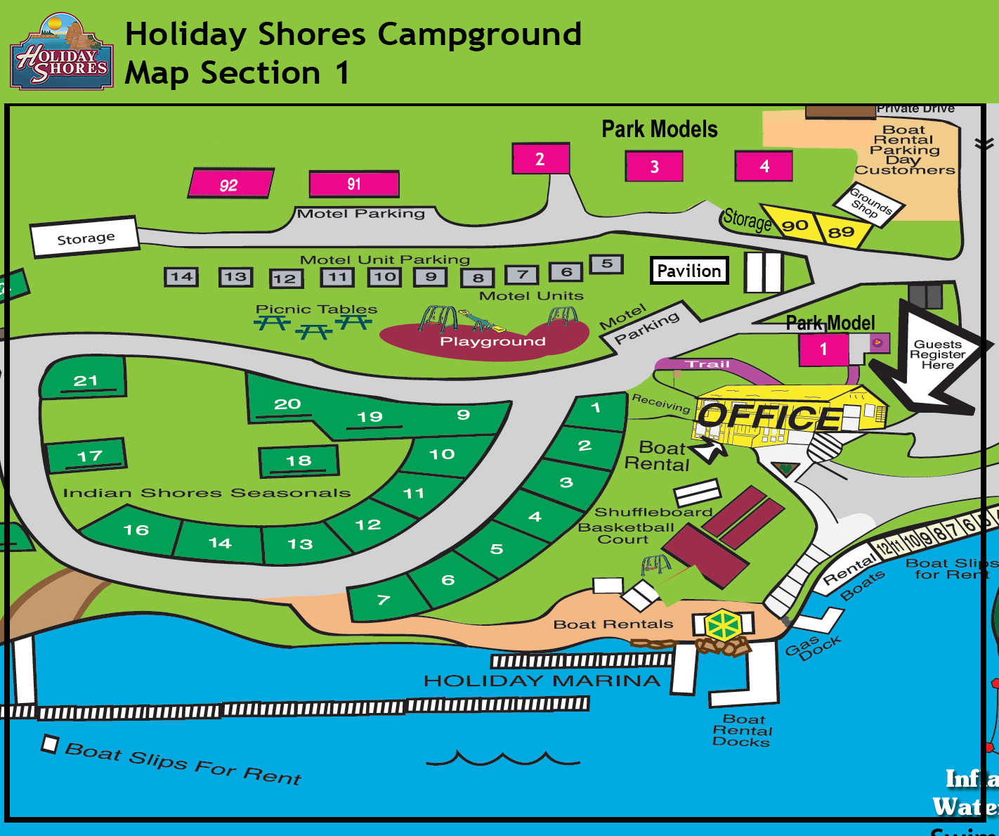 Resort Map Section 1