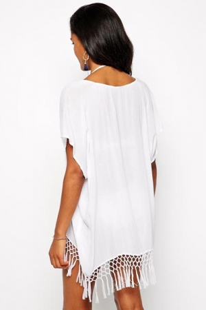 Cover Up Wit Seafoldy Tassel - back