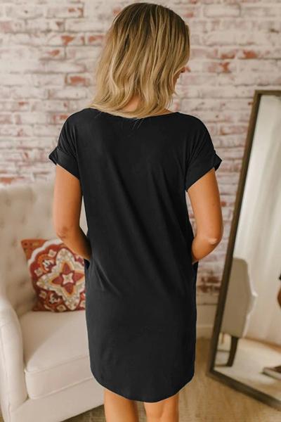 Cover up Mayaka Zwart met zakken - achterkant