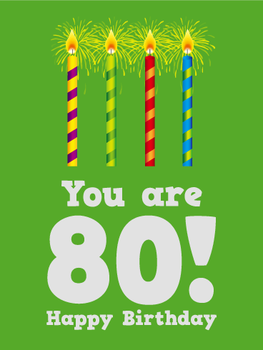 80th Birthday Card Birthday & Greeting Cards By Davia