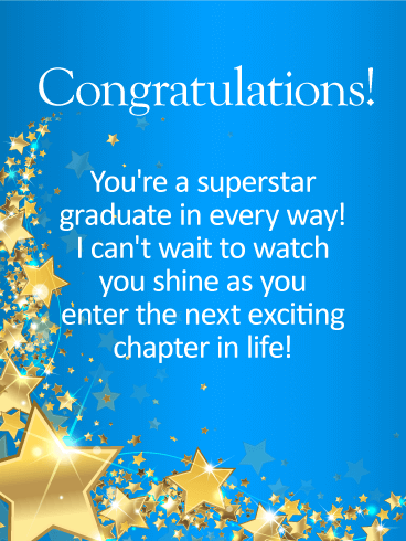 You're A Superstar! Graduation Card Birthday & Greeting