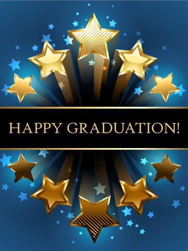 Shooting Star Graduation Card Birthday & Greeting Cards