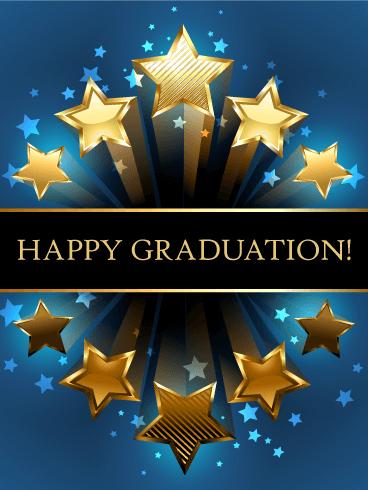 Shooting Star Graduation Card Birthday & Greeting Cards