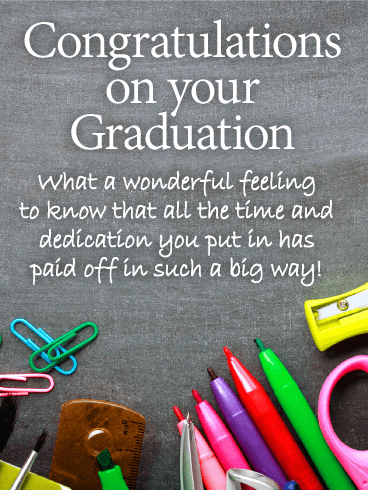 What A Wonderful Feeling! Graduation Card Birthday