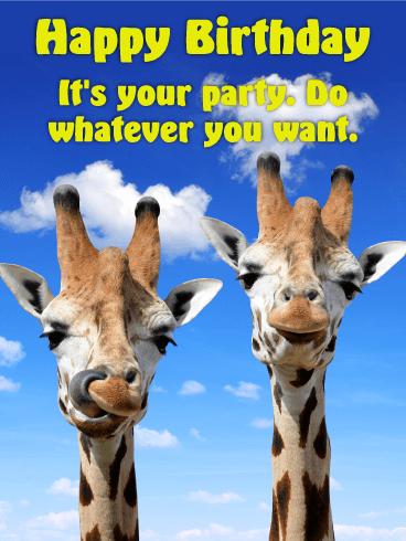 Chilling Giraffe Happy Birthday Card Birthday & Greeting