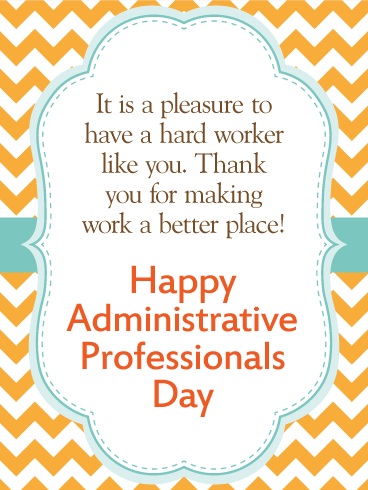 We Are Thankful! Happy Administrative Professionals Day