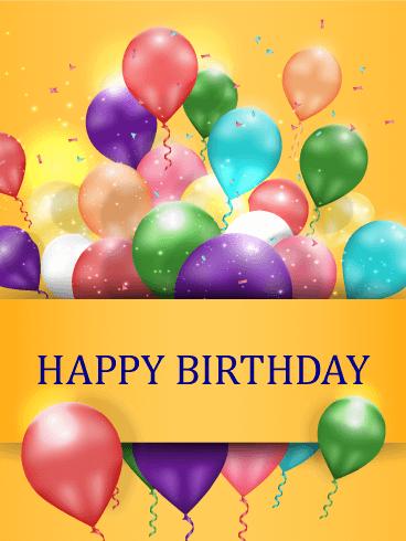 Dazzling Birthday Balloon Card Birthday & Greeting Cards