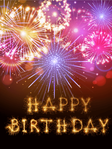 Birthday Fireworks Card Birthday & Greeting Cards By Davia