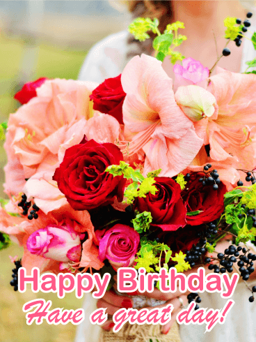 Gorgeous Birthday Flower Card Birthday Amp Greeting Cards