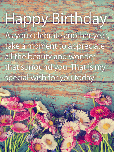 My Special Wish For You Happy Birthday Wishes Card