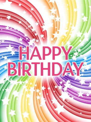 Transparent Rainbow Happy Birthday Card Birthday