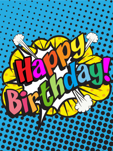 Comic Design Happy Birthday Card Birthday & Greeting