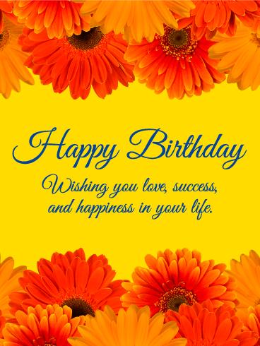 Charming Gerbera Happy Birthday Card Birthday Amp Greeting Cards By Davia