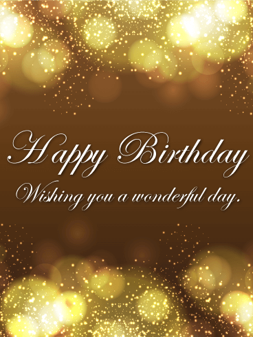 Shining Happy Birthday Card Birthday & Greeting Cards By