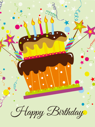 Fun! Birthday Cake Card Birthday & Greeting Cards By Davia