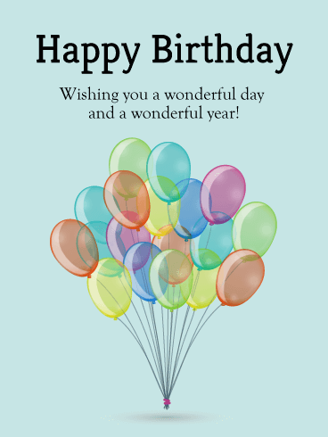 Bundle Of Birthday Balloons Card Birthday & Greeting