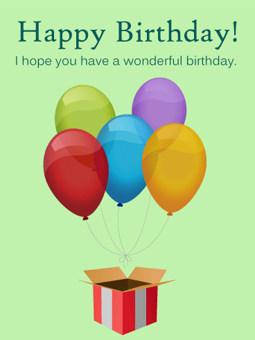 Surprise! Birthday Balloon Card Birthday & Greeting