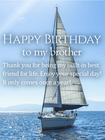 Enjoy Your Special Day Happy Birthday Wishes Card For Brother Birthday Amp Greeting Cards By Davia