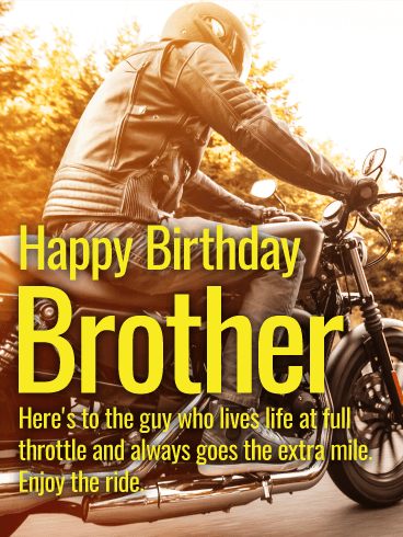 Enjoy The Ride! Happy Birthday Card For Brother Birthday