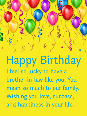 Celebrating You! Happy Birthday Card For Brother In Law
