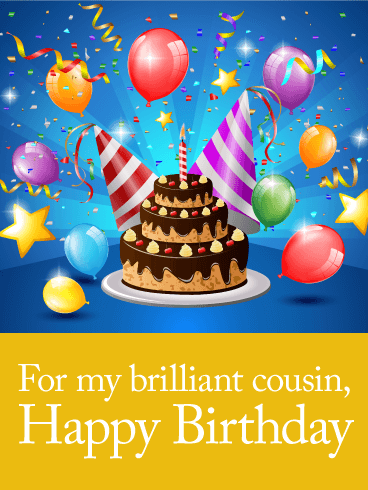 For My Brilliant Cousin Happy Birthday Card Birthday