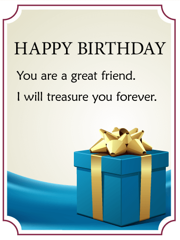 You Are A Great Friend Birthday Gift Box Card Birthday