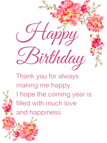 Gorgeous Flower Happy Birthday Wishes Card for Friends