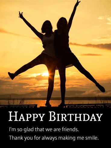 Two Best Girl's Friends Card Birthday & Greeting Cards