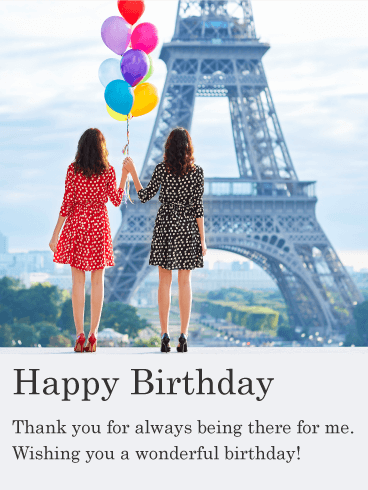 Birthday In Paris Happy Birthday Card For Friends