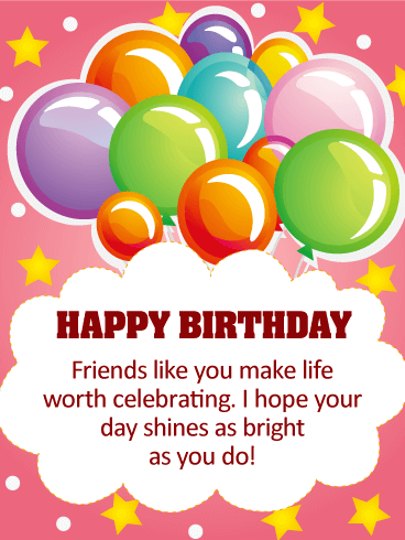 I Hope Your Day Shines! Happy Birthday Card For Friends