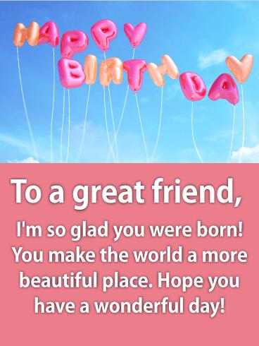 Fresh & Fun Happy Birthday Wishes Card For Friends