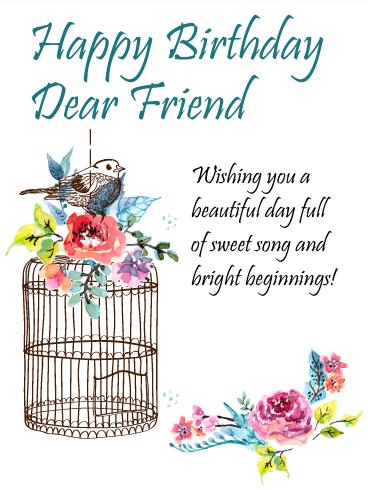 To The Sweetest Friend Happy Birthday Card Birthday