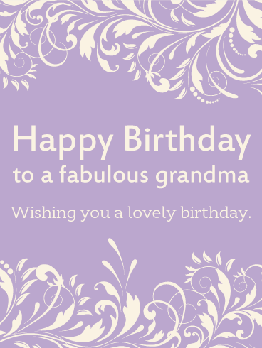 To A Fabulous Grandma Happy Birthday Card Birthday