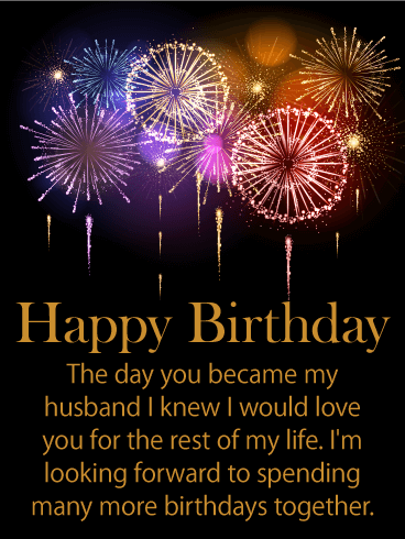 Stunning Happy Birthday Wishes Card For Husband Birthday