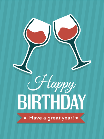 Cheers! Happy Birthday Card Birthday & Greeting Cards By