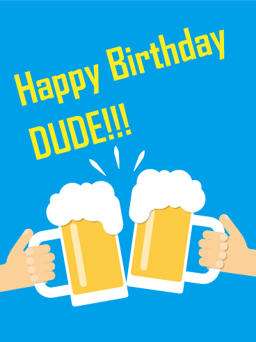 Dude! Happy Birthday Card Birthday & Greeting Cards By Davia