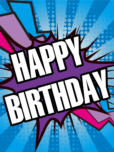 Boom! Happy Birthday Card Birthday & Greeting Cards By Davia